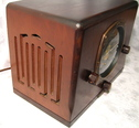 knight,tube radio, wood case, wireless receiver,valves