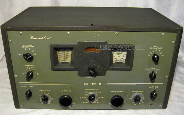 tube radio,ham,receiver,tubesvalves.com, valve wireless, hammarlund hq-129x