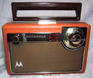 motorola portable tube radio,model 66L2, circa 1955
