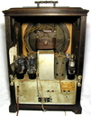 GE- S22 Jr Tombstone tube radio tapestry grill & handle