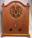 sparton cathedral tombstone radio,tube radios,sparton 410,tubesvalves,valve wireless,1930,