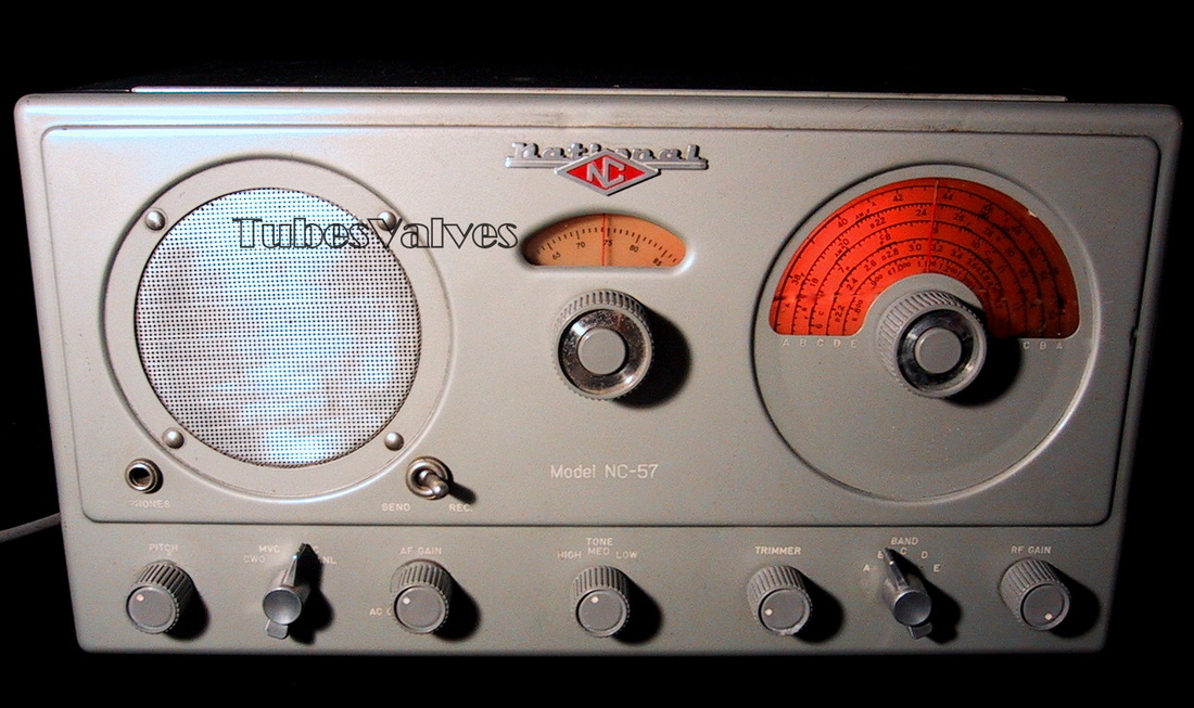 national radio,nc-57,receiver,ham,shortwave,tube radio,valve,wireless amateur,tubesvalves.com,