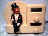 majestic,charlie mccarthy,1946,tube radio,wireless,valve