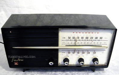 national panasonic,matsushita,tube radio,japanese radio,japan,fm/am,1950's,