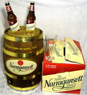 keg,beer barrel,tube radio,narragansett,valve wireless,novelty,promo,