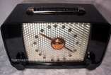 black bakelite,zenith 6d815,tube radio,valve wireless,tubesvalves.com,