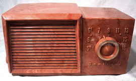 sentinel marbled tube radio,tubesvalves,valve wireless 1u352,1956,