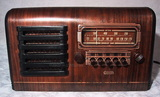 tube radio wood case pushbutton auto