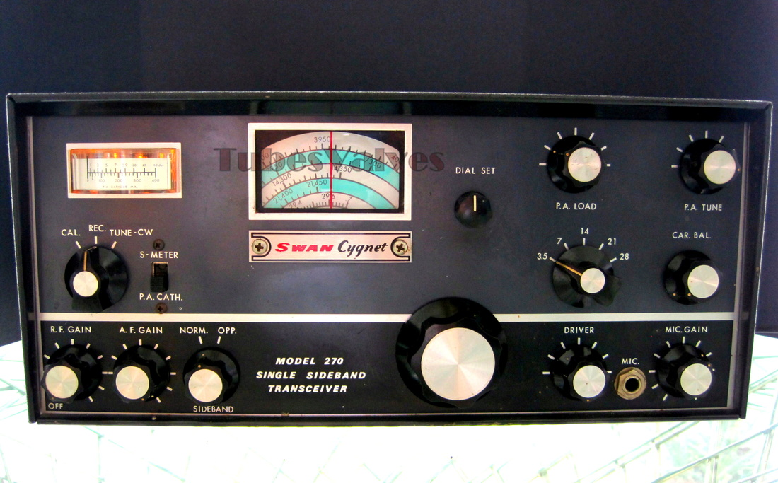 swan 270,cygnet,transceiver,ham radio,wireless,tubesvalves.com