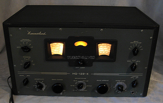 1946, tube radio,ham,receiver,tubesvalves.com, valve wireless, hammarlund hq-129x